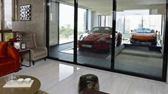 Singapore ensuite parking.  Park your car just outside the living room in your condo!