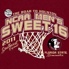 Florida State Seminoles  2011 NCAA Men's Basketball Tournament Sweet Sixteen Hoop T-shirt - Garnet