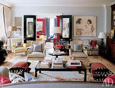 На полу в гостиной квартиры Спейдов в Истсайде лежит обюссонский ковер. На стене — карандашный рисунок Роберта Хоукинса, одна из любимых работ в коллекции Энди Спейда.