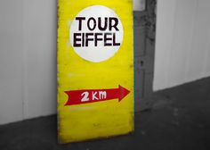 Rustic - Eiffel Tower - Wood Sign. $220.00, via Etsy.