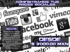nosotros nos encargamos de tus redes sociales. contenido y diseño propio para su negocio. Incremente su presencia.