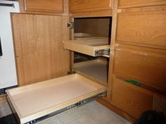 Corner Cabinet Solutions | ... Kitchen Products / Kitchen Cabinets / Cabinet and Drawer Organizers