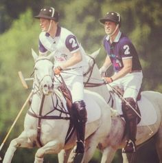 Princes Harry and William at today's Kent and Curwen Polo Cup in aid of Sentebale and the Tusk Trust, at Sir Andrew Lloyd Webber's estate. | July 19th 2014.