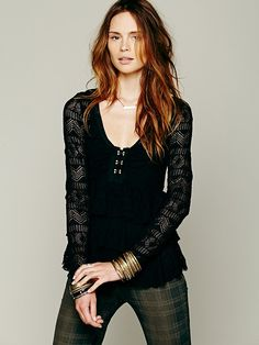 Free People Sweet Dreams Lace Top