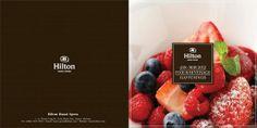 Hilton food Brochure design by CGChimp Design Studio, via Behance