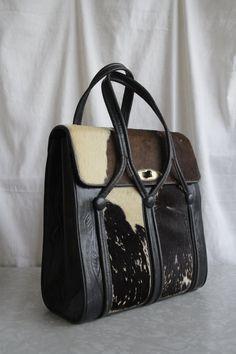 bca747f8d1 Vintage Cowhide Purse Leather Riding Case Large by VeraVague.etsy.com