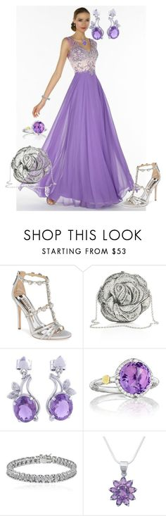 """Graceful"" by shirley-de-gannes ❤ liked on Polyvore featuring Badgley Mischka, Judith Leiber, NOVICA, Tacori and Apples & Figs"