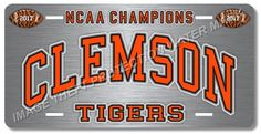 Clemson TIGERS South Carolina NCAA Champions College Football License Plate Tag