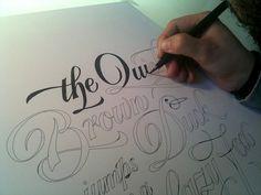 hand lettered.