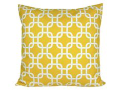 Kissenbezug grafisches Muster GOTCHA 40 x 40 cm gelb-weiß