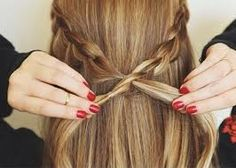 ❮Secure a half crown braid by looping one end through the opposite braid and pinning❯ Parade of Braids: 19 Fun Hairstyles To Wear All Season Long Summer Hairstyles, Messy Hairstyles, Pretty Hairstyles, Summer Braids, Hair Today, Hair Dos, Gorgeous Hair, Hair Hacks, Hair Inspiration