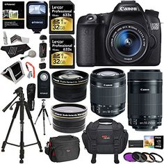 Canon EOS 70D 20.2 MP DSLR Camera AF Full HD 1080p Video + EF-S 18-55mm f/3.5-5.6 IS STM Lens + 55-250mm Image Stabilizer Zoom Lens + Polaroid .43x Wide Angle & 2.2X High Telephoto Lens Accessory Kit Ritz Camera http://www.amazon.com/dp/B00PG6R32Q/ref=cm_sw_r_pi_dp_RevDwb0K2KQ8A