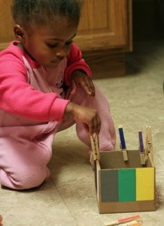 teach toddler colors with diy color box