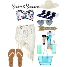 Sunnies and Swimwear by elasianfashionbeauty on Polyvore featuring polyvore, fashion, style, Monsoon, River Island, Charlotte Russe, J.Crew, Jennifer Ouellette, Wildfox, Nivea and Dot & Bo