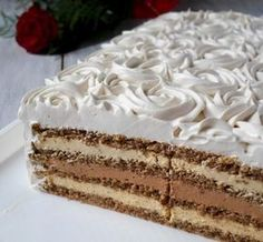 Torte Recepti, Kolaci I Torte, Bulgarian Recipes, Croatian Recipes, Polish Desserts, Just Desserts, Baking Recipes, Cookie Recipes, Dessert Recipes