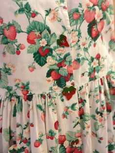 berry crazy. Im pretty sure I had a dress with this pattern when I was little.