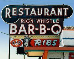 Fine Art Photo of Sign for Vintage Neon Sign for Pig n Whistle Restaurant in Denver, CO Advertising Signs, Vintage Advertisements, Vintage Ads, Old Neon Signs, Vintage Neon Signs, Roadside Signs, Roadside Attractions, Retro Signage, Diner Sign