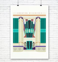 The Hoover Building: Art Deco London Illustrated poster print. Matte and Giclee Art Prints in A3 or A2 sizes. Wall Art, London Print von EyeForLondonPrints auf Etsy https://www.etsy.com/de/listing/290382533/the-hoover-building-art-deco-london