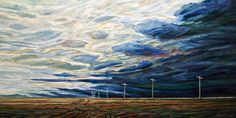 Poles and Clearing Sky, by Steve Coffey