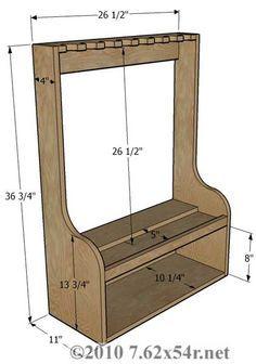 vertical gun rack | Vertical Wall Gun Racks