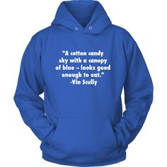 """Vin Scully """"Cotton Candy"""" Hoodie"""