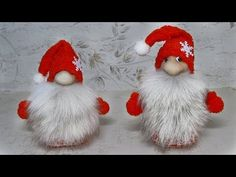 Christmas gnomes from socks DIY. A very easy way to craft. Why Christmas, Christmas Gnome, Christmas Angels, Christmas Crafts, Christmas Decorations, Christmas Ornaments, Crafts For Kids, Diy Crafts, 242