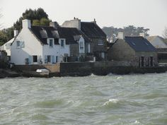"Locmariaquer, pays des huîtres lors de la grande marée ""du siècle"" Golfe du Morbihan (56) France"