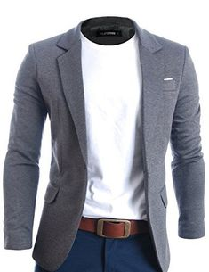 Product Details Classy Tailored look with Jeans or Chinos One button Casual Blazers for men Unique. Blazer Outfits Men, Casual Blazer, Blazer With Jeans Men, Blazers For Men Casual, Men Blazer, Casual Jackets, Dress Casual, Jeans Fit, Casual Chic