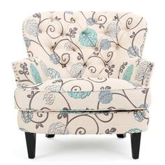 Tafton Floral Club Accent Chair - Christopher Knight Home Accent Furniture, Living Room Furniture, Furniture Decor, Floral Furniture, Furniture Outlet, Kitchen Furniture, Furniture Makeover, Furniture Design, Modern Floral Design