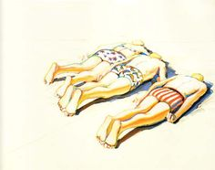 Wayne Thiebaud - Three Prone Figures. He didn't just paint cakes and gumball machines. :-)