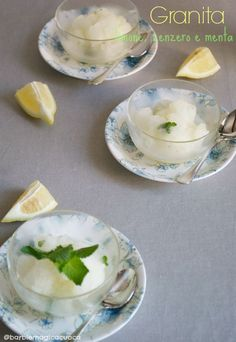 granita limone zenzero menta