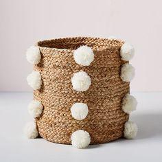 45 adorable DIY pom pom projects to try! Christmas Yarn Wreaths, Felt Christmas Decorations, West Elm, Ikea Cubbies, Playroom Storage, Craft Stick Crafts, Diy Crafts, Ikea Kallax Hack, Diy Stockings