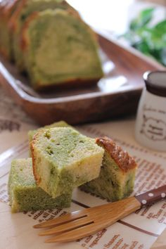 Matcha Caramel Pound Cake