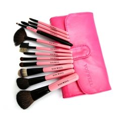 Professional Beauty Makeup 12 pcs Makeup Brushes Set with a case by alice.green.9461799