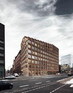 Brick Architecture, Architecture Visualization, Concept Architecture, Beautiful Architecture, Residential Architecture, Facade Design, Exterior Design, Commercial Architecture, Facade House