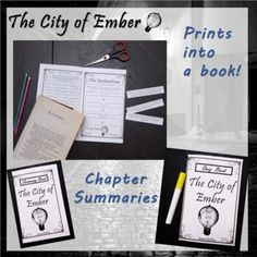 Reading Resources, Book Activities, Weekly Reading Logs, Vocabulary Graphic Organizer, City Of Ember, Silly Sentences, Chapter Summary, Middle School Reading, School Calendar