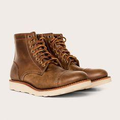 Oak Street Bootmakers | Natural Vibram Sole Cap-toe Trench Boot