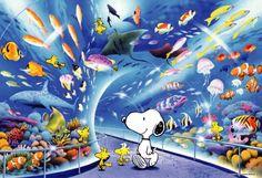 Snoopy & Woodstock at the Tokyo Aquarium