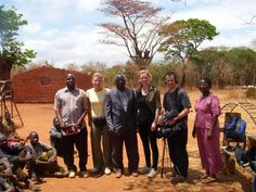 Cold Feet and Spooks actress Hermione Norris in rural Malawi with BBC and Malawi teams.