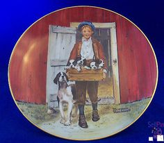 $19.95 : NORMAN ROCKWELL Collector Plate PUPPY LOVE 1981 Museum Certified NUMBERED Decor