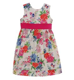 Palm Springs Floral Sateen Dress