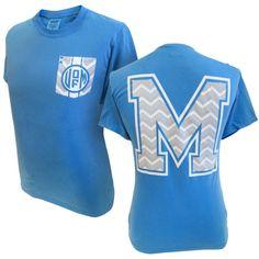 Memphis Tigers Comfort Colors™ Chevron T-Shirt | Tiger Bookstore @Tracey Fox Fox Fox Fox Millican  this is CUTE!