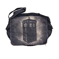 Doctor Who TARDIS Black Messenger Bag
