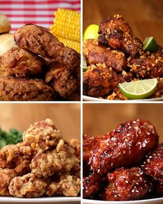 Featuring Japanese Popcorn Chicken (Karaage), Brazilian Chicken Wings (Frango À Passarinho), fried chicken Buttermilk-fried Chicken and Spicy Korean Chicken Buttermilk Fried Chicken, Fried Chicken Recipes, World Recipes, Indian Food Recipes, Food Videos, Love Food, Tapas, Food Porn, Food And Drink