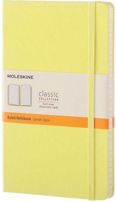 Moleskine Moleskine Classic A5 Hard Cover Ruled Notebook- Citron Yellow