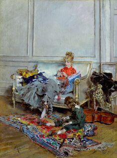 "Giovanni Boldini's ""Young Woman Crocheting"" (1875)"