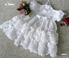 Adorable Christening Baby Dress free crochet pattern