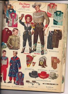 A 1955 Sears Christmas Catalog Shows That Cowboys Used To Wear Pink Vintage Advertisements, Vintage Ads, Vintage Images, Vintage Posters, Vintage Food, Advertising Ads, Vintage Ephemera, Western Theme, Western Wear