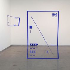 Seek See Keep - ING4.5' x 8'Installation by Liyuan Tong
