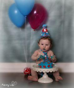 Boo's first Birthday cake smash set ;)  He's so cute x